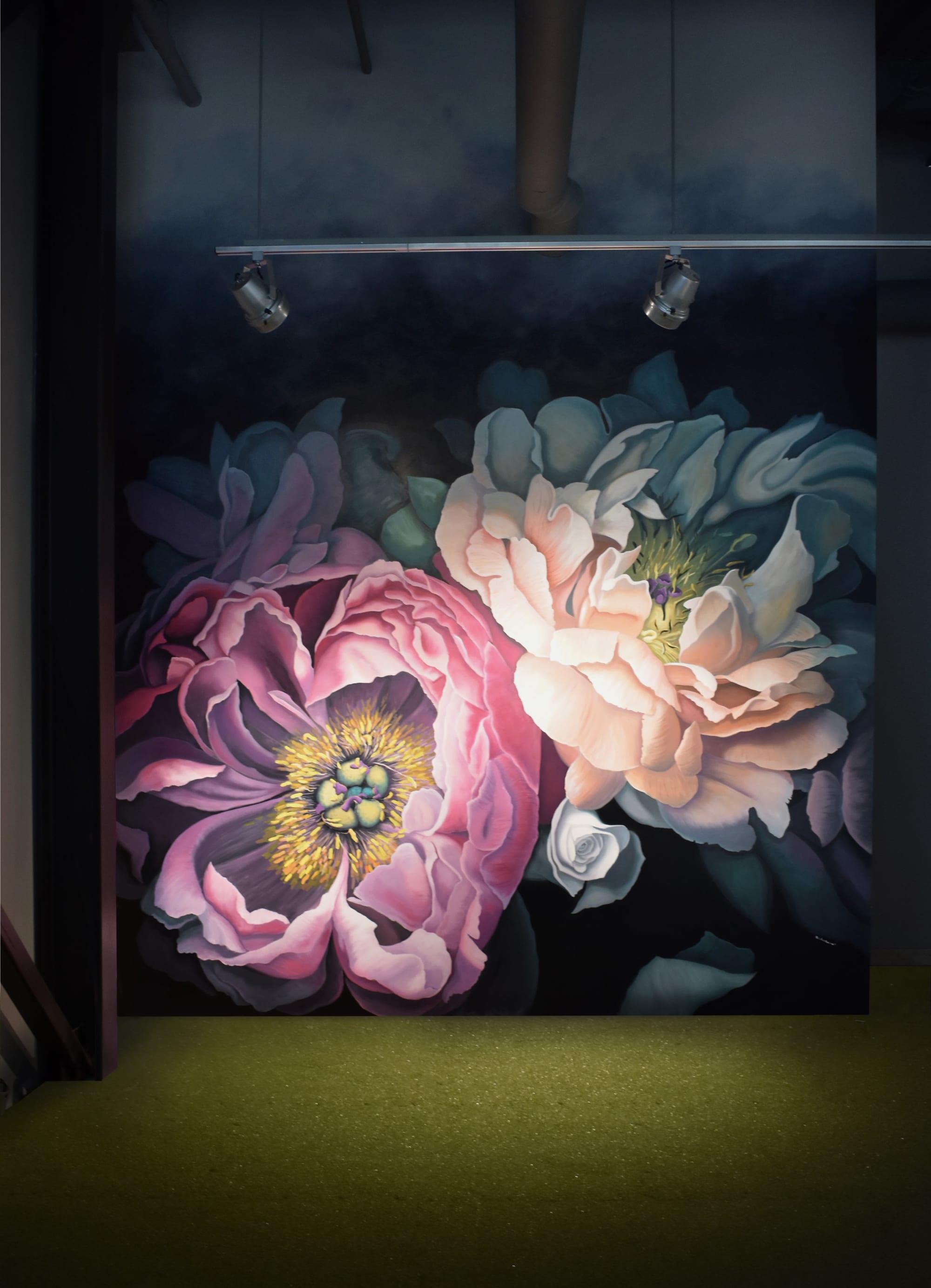 "Murals by Nicolette Atelier seen at Pinstripes, Beachwood - ""Bohemian Blooms"""