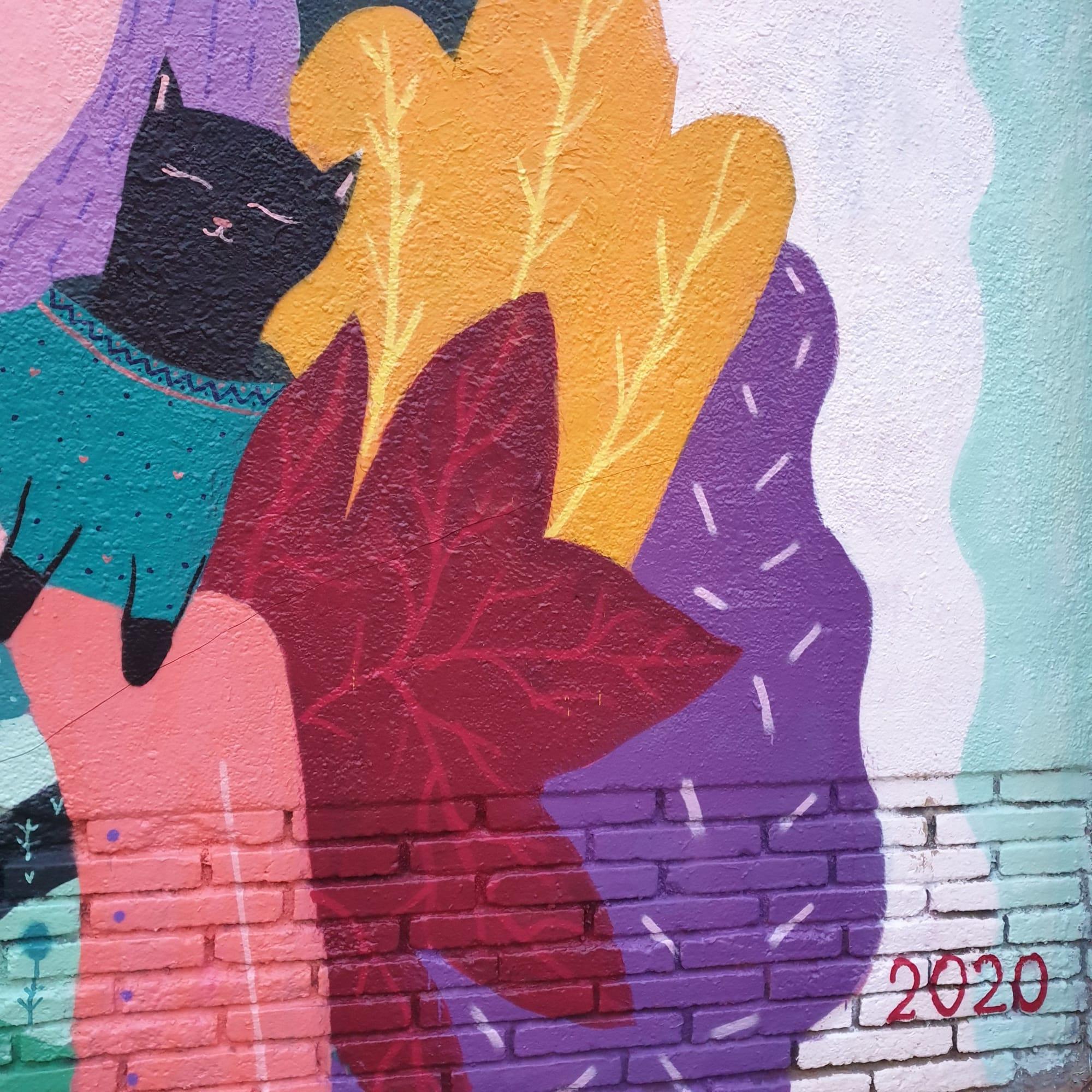 Street Murals by Its mancho seen at Carrer de la Selva de Mar, 141, Barcelona - estampilla alma & chloe