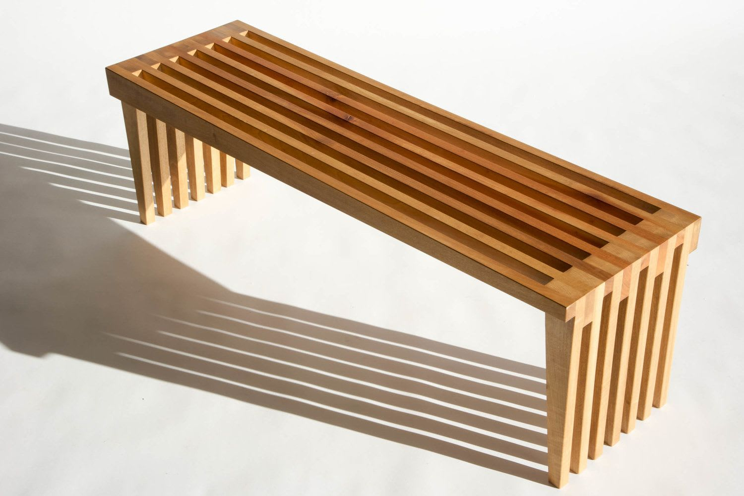 Benches & Ottomans by Green Ranch Furniture seen at Private Residence, Philo - Fourfold Library Bench