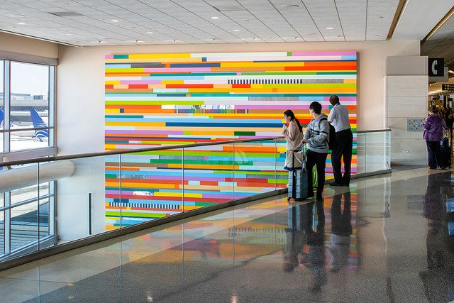Paintings by Leah Rosenberg seen at San Francisco International Airport, San Francisco - Everywhere, A Color
