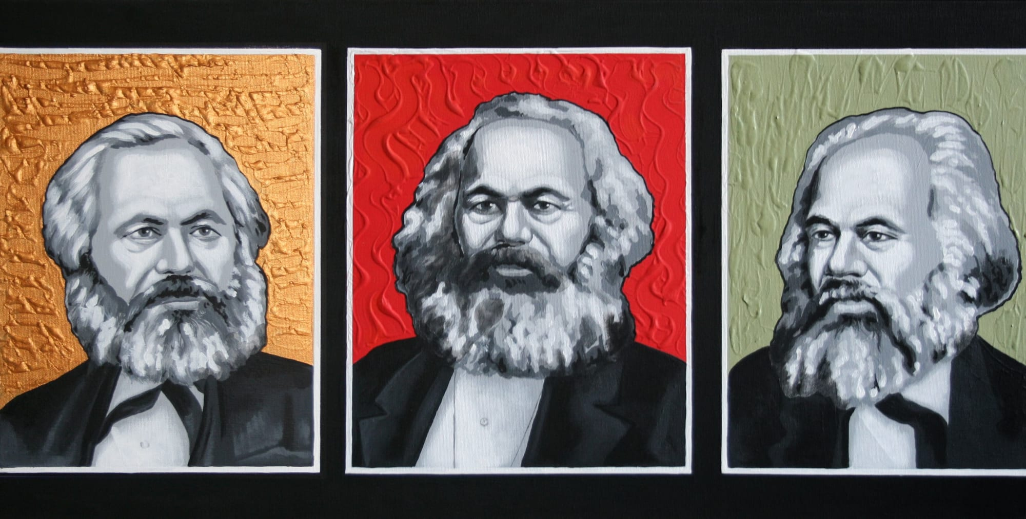 Paintings by Silvia Traistaru seen at NordArt, Büdelsdorf - The Last Communists' Convention