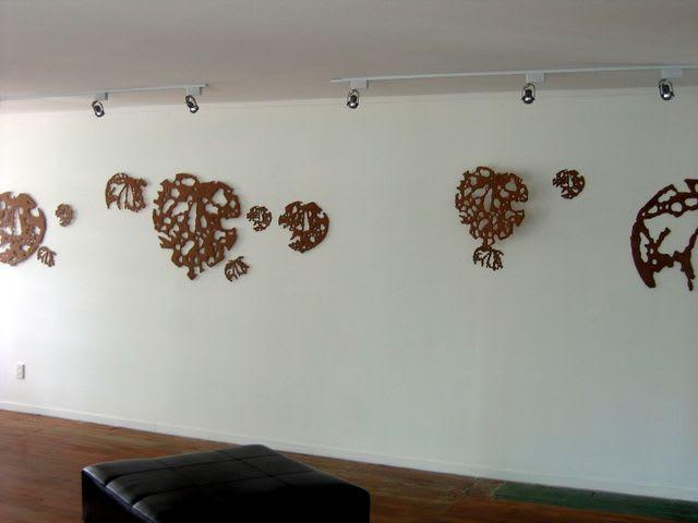 Sculptures by Liz McAuliffe seen at Private Residence, Auckland - Kawakawa sculptures