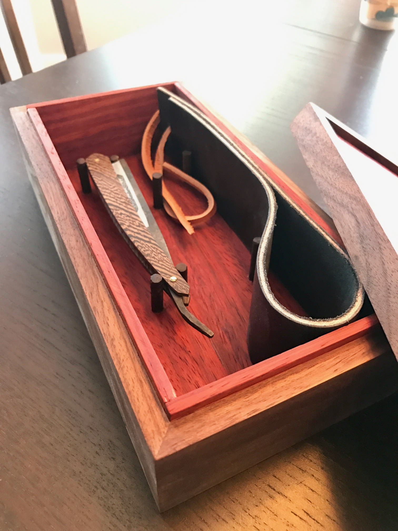 Furniture by Cask Woodworking seen at Private Residence, Edmonton, Canada, Edmonton - Straight Razor Keepsake Box