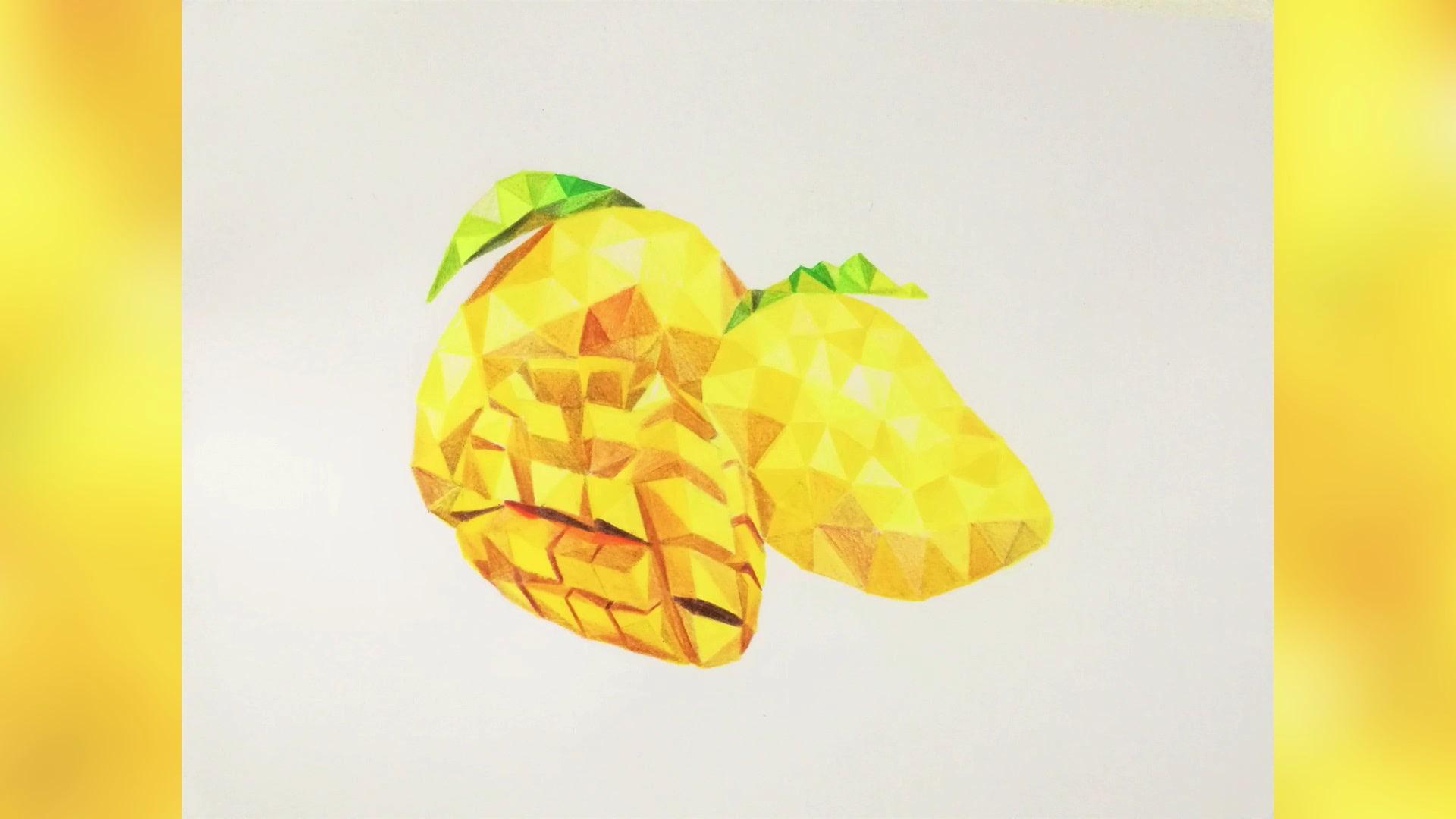Interior Design by Kaeious Art seen at Private Residence, Kulim - Kaeious Ooi Polygonal Art - The Fruits Series