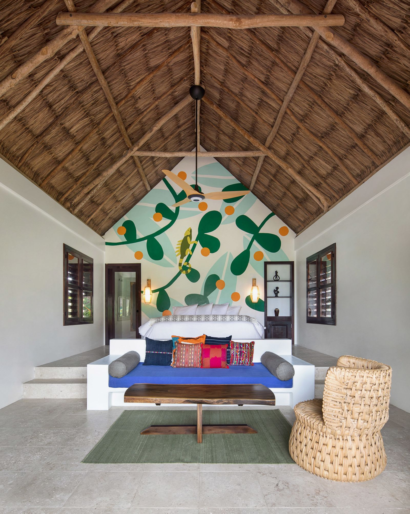 Murals by Cecile Gariepy seen at Matachica Resort Belize, Ambergris Caye - Matachica Murals