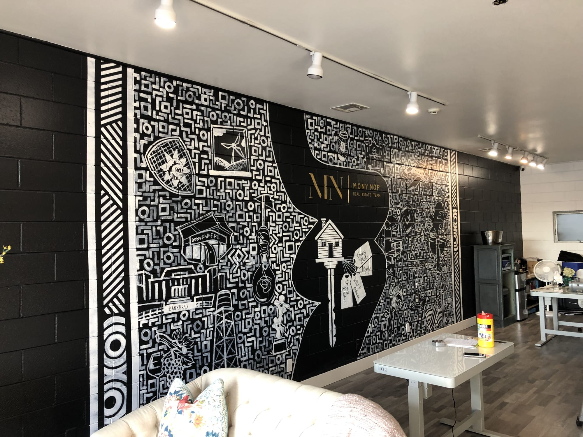 Murals by E. Trent Thompson seen at Mony Nop Real Estate | Compass, Livermore - Mony Nop Real Estate Mural
