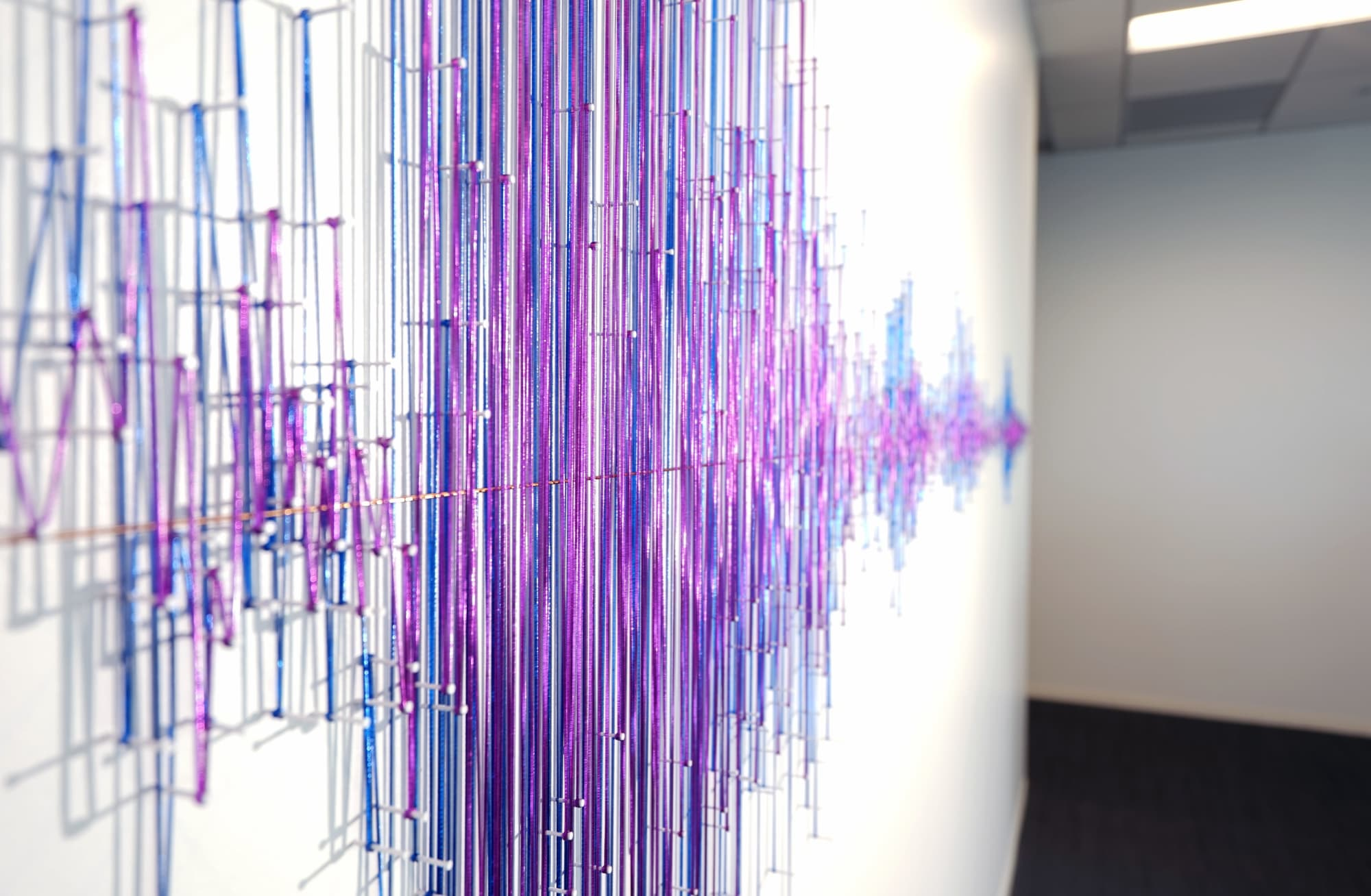 Art & Wall Decor by ANTLRE - Hannah Sitzer seen at 151 S Almaden Blvd, San Jose - Soundwave sculpture for Adobe Premiere