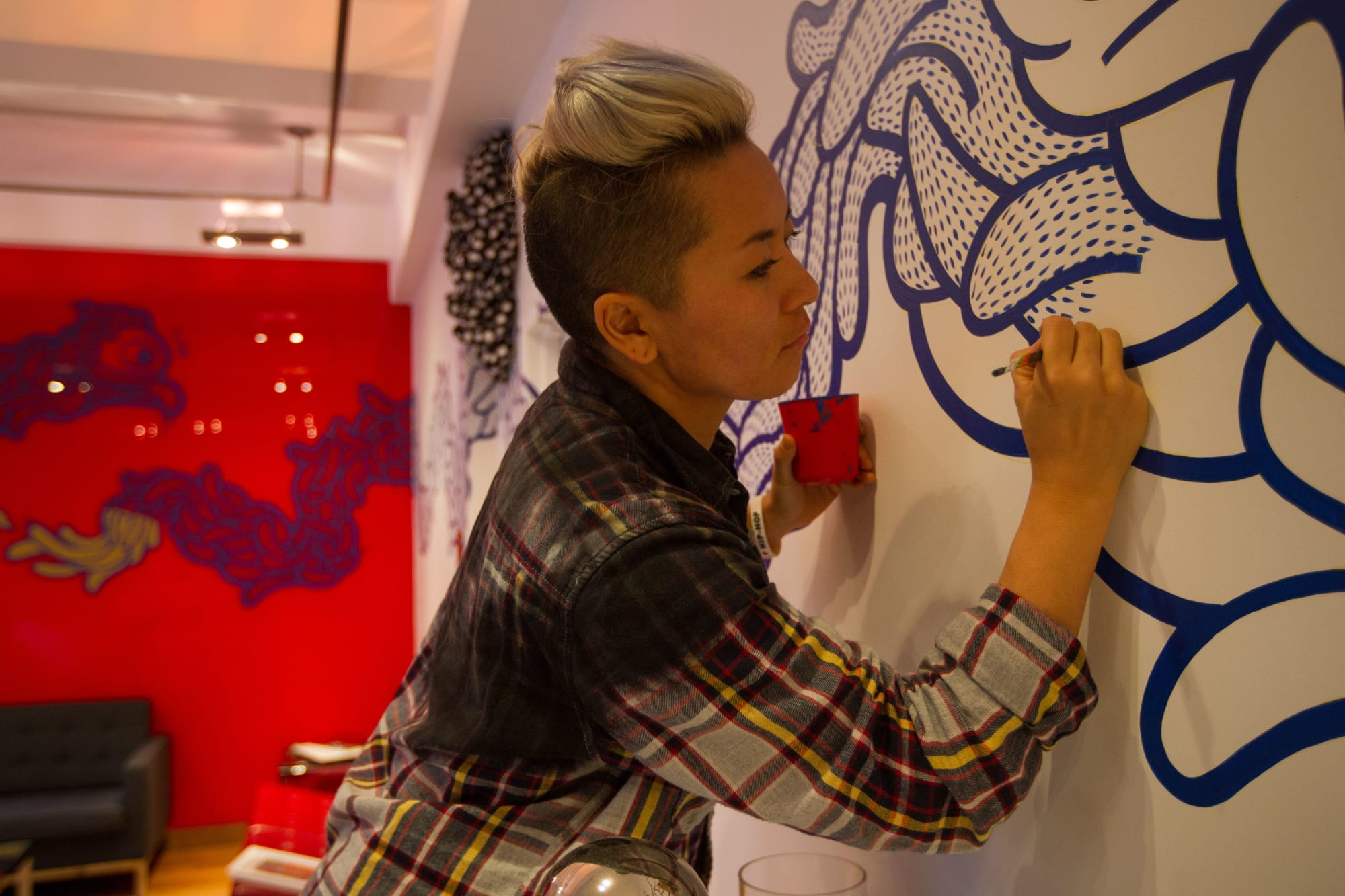 Murals by BoogieREZ seen at Nord Anglia International School, New York, New York - Dragon
