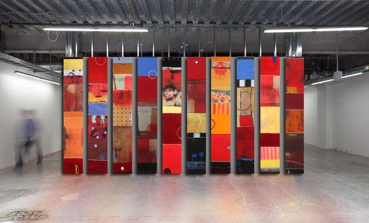 Paintings by silvia poloto seen at Private Residence - India Basin, San Francisco, San Francisco - Art, paintings