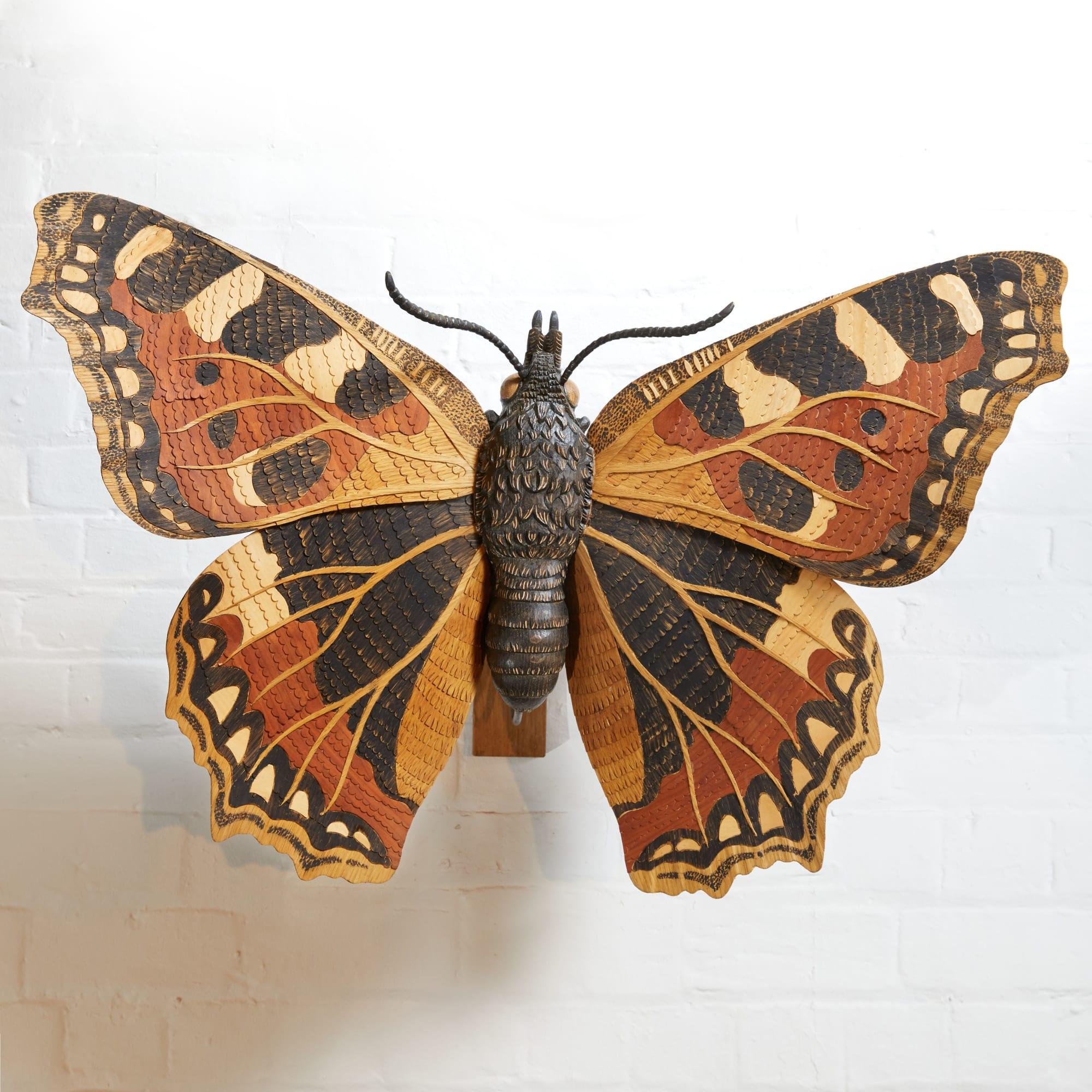 Tortoiseshell butterfly wall decor