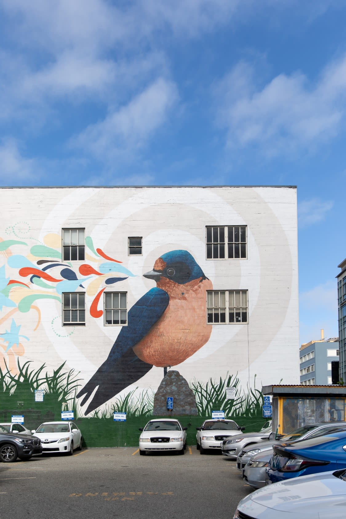 Street Murals by Joshua Coffy seen at Anchor Coworking Space, San Francisco - Bird Song #3