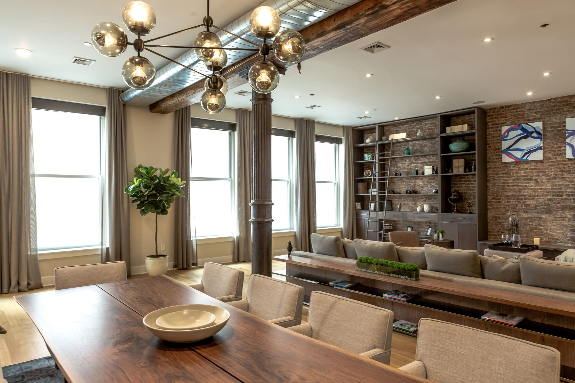 Interior Design by Marie Burgos Design seen at Private Residence - Bachelor Loft Tribeca, New York - New York Bachelor Loft