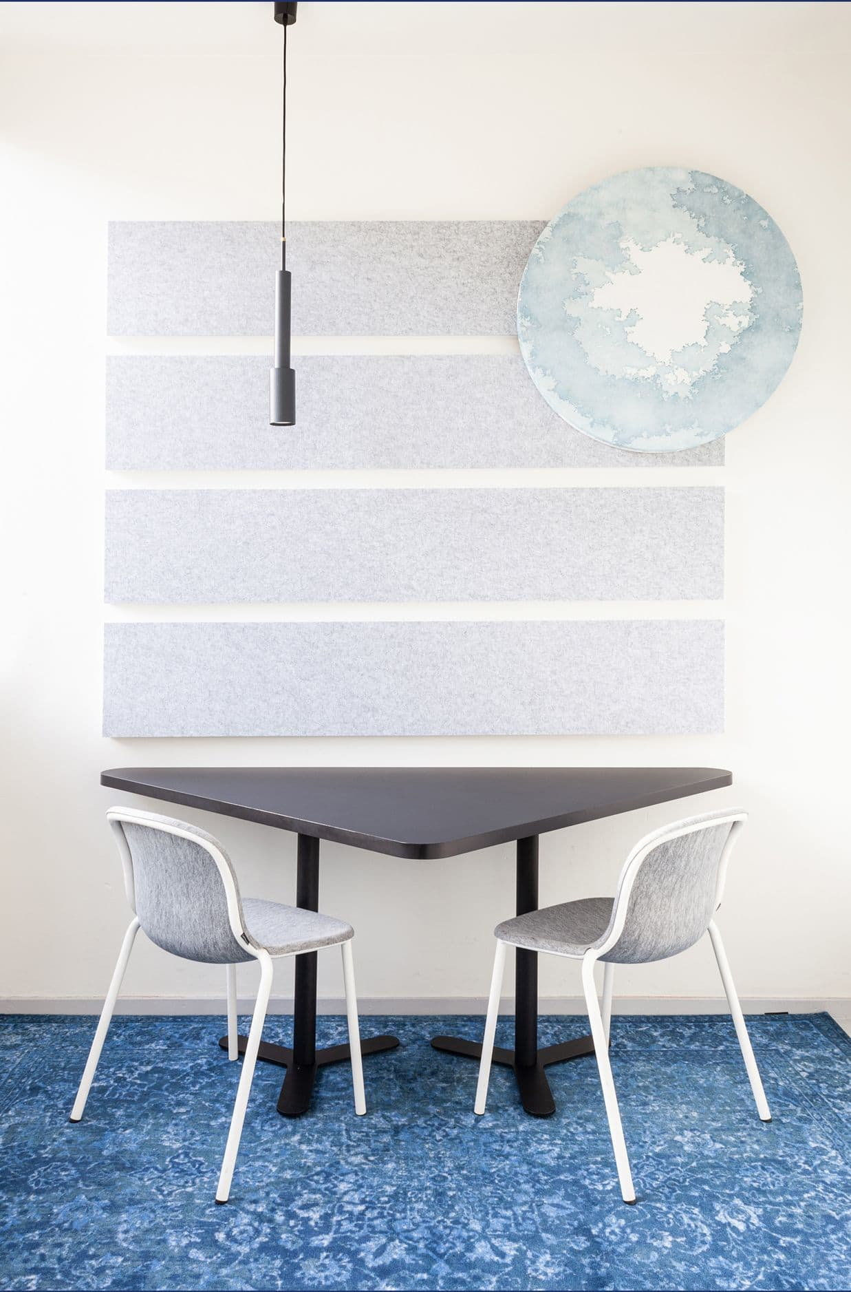 Flow Acoustic Wall Art Gray and Blue