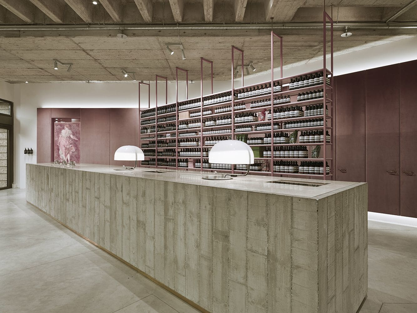 Interior Design by 1zu33 seen at Maximiliansplatz, München - Signature Store Munich, Aesop