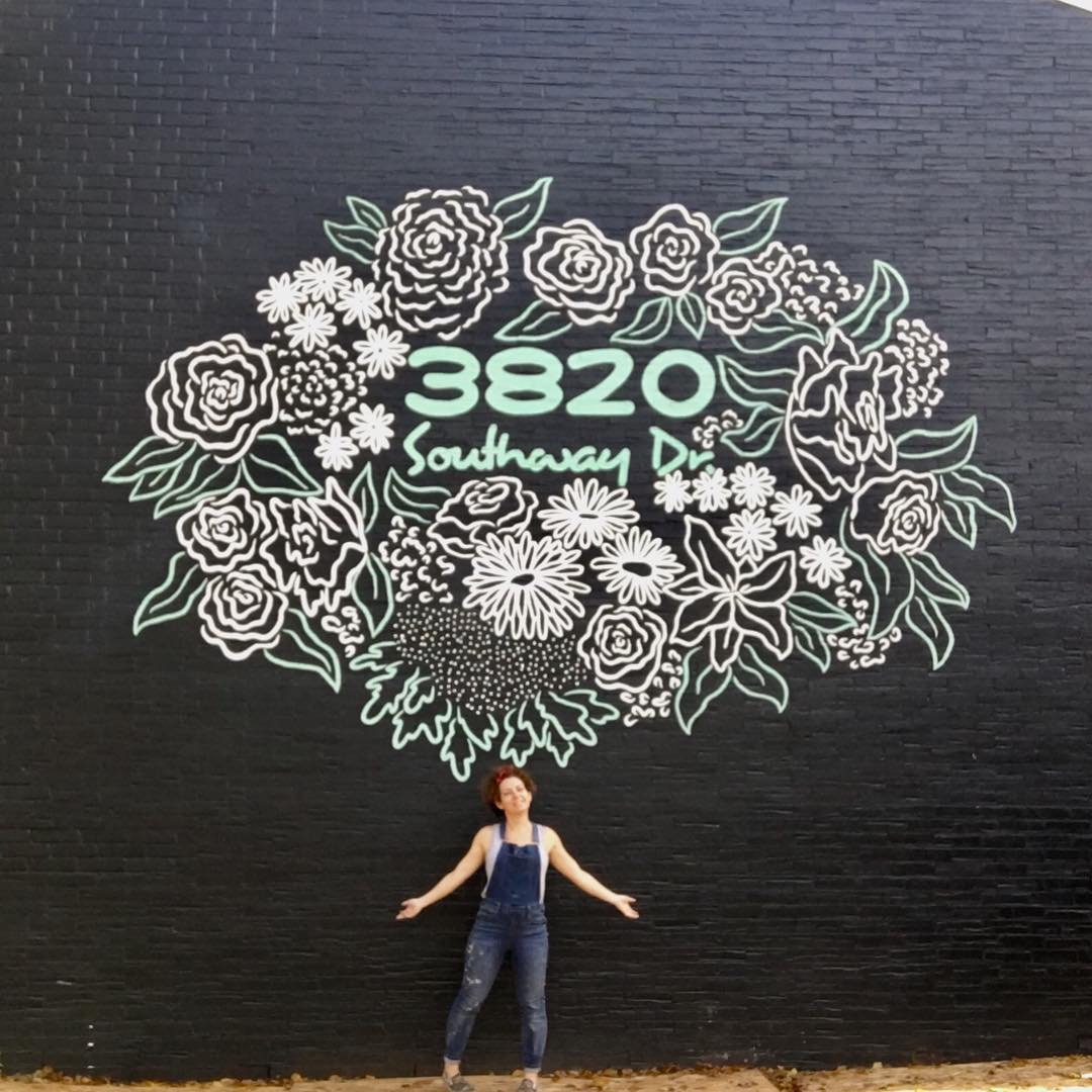 Street Murals by Avery Orendorf seen at 3820 Southway Dr, Austin - 3820 Southway Dr Mural