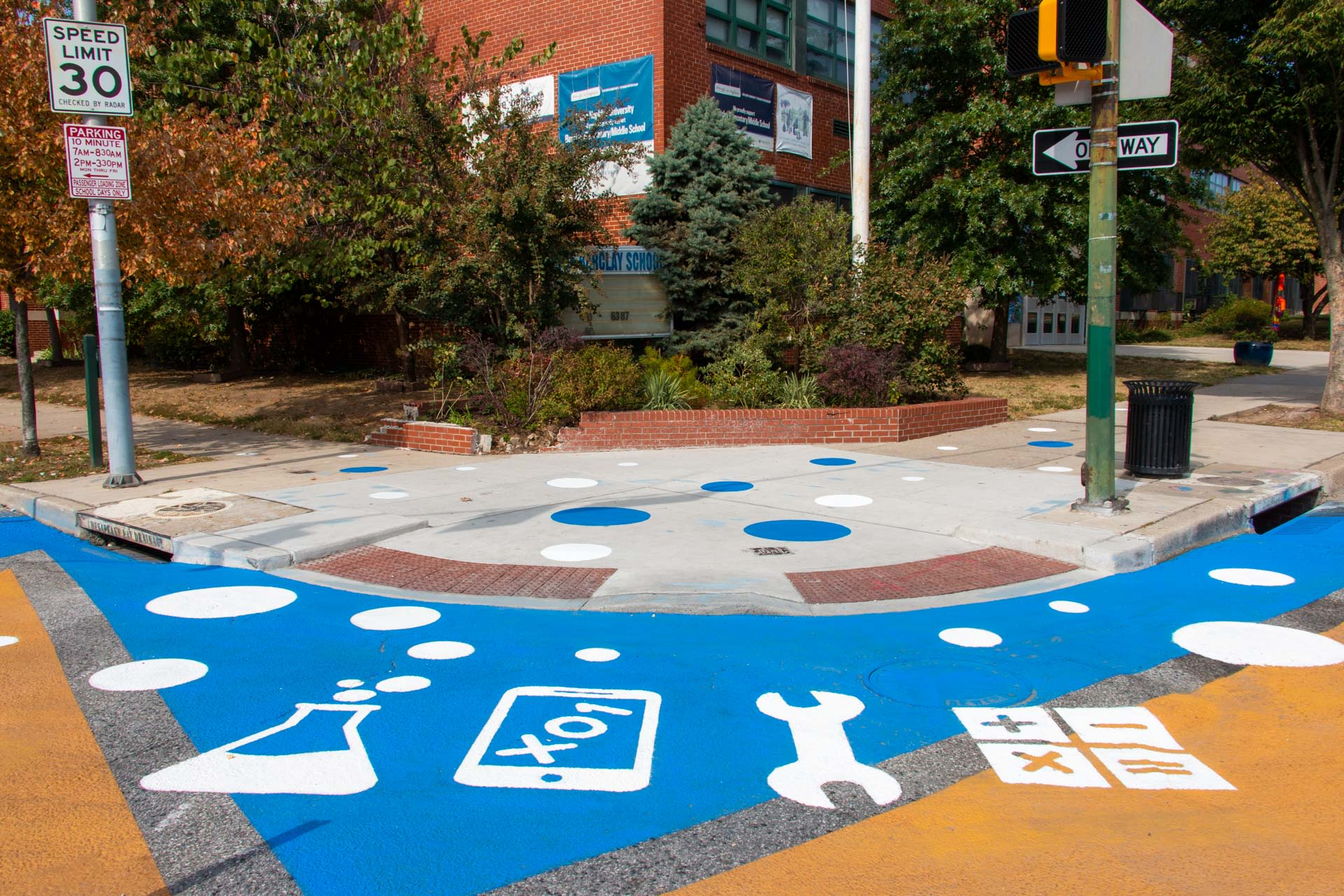 Street Murals by Graham Projects seen at Barclay Elementary School, Baltimore - Barclay STEM Crosswalks