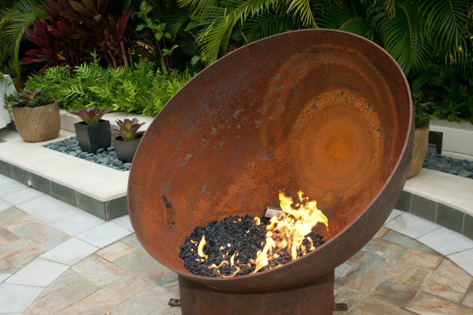 Angled Round Outdoor Firebowl
