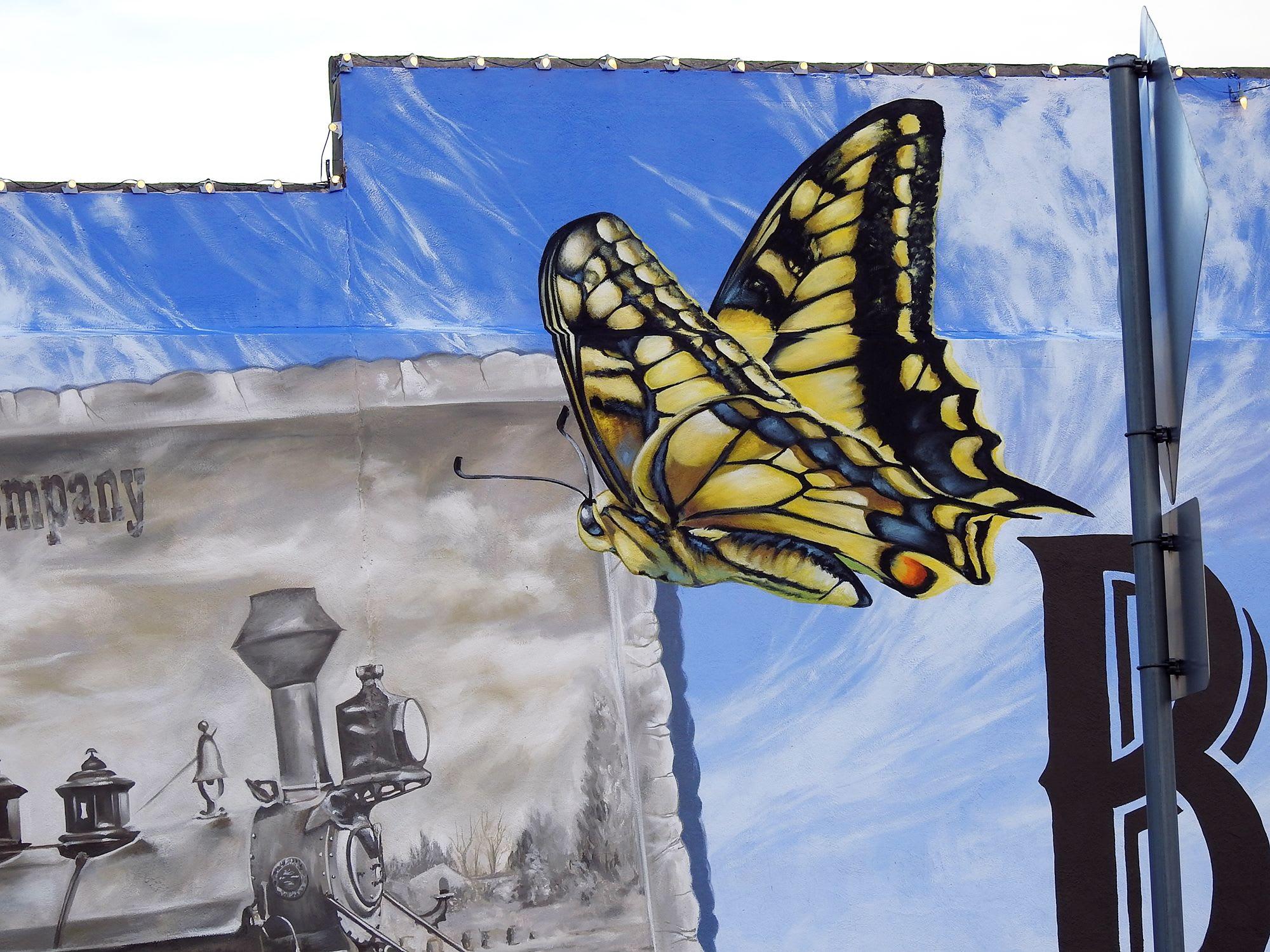 Street Murals by Anat Ronen seen at Brenham, Brenham - The Brenham mural