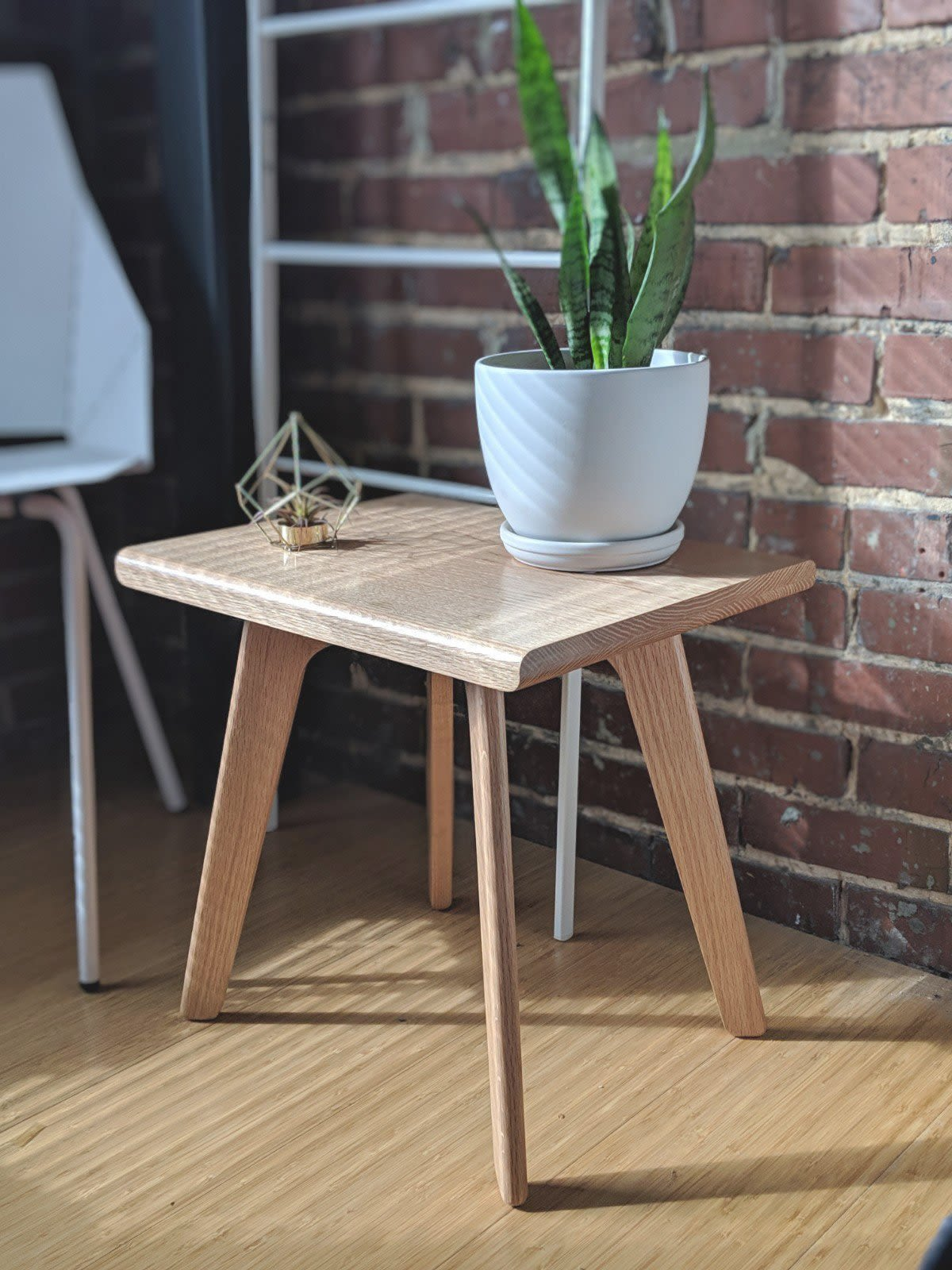 Light wood side table