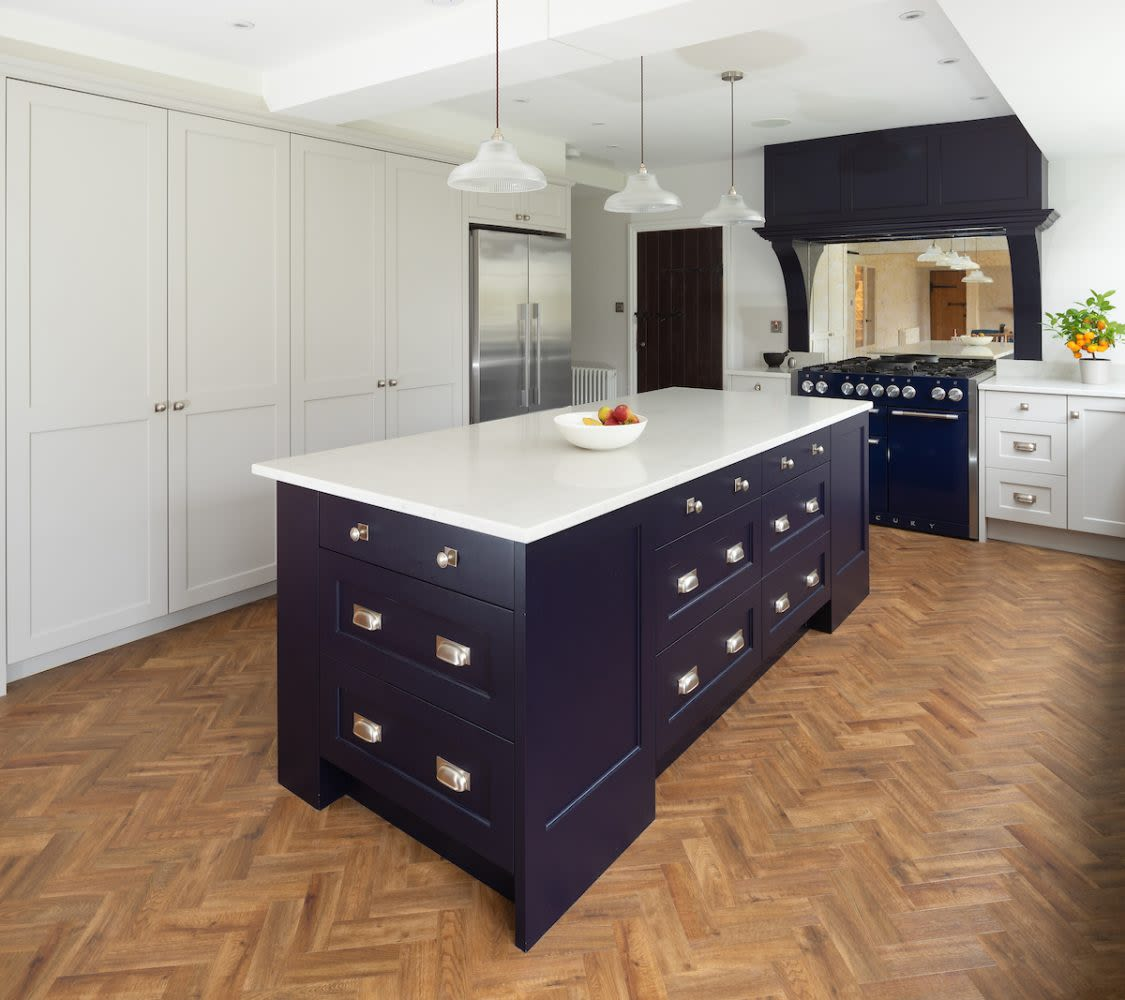 Black kitchen island cabinets