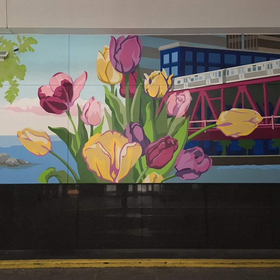 Murals by Shayne Art seen at Embassy Suites by Hilton Chicago Downtown Magnificent Mile, Chicago - Urbs in Horto