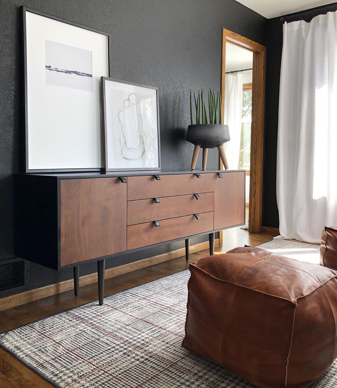 Sleek chestnut cabinet