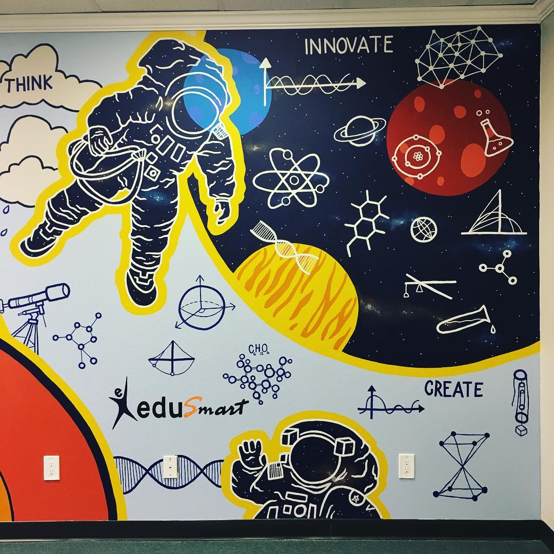 Murals by Avery Orendorf seen at EduSmart, Austin - Science