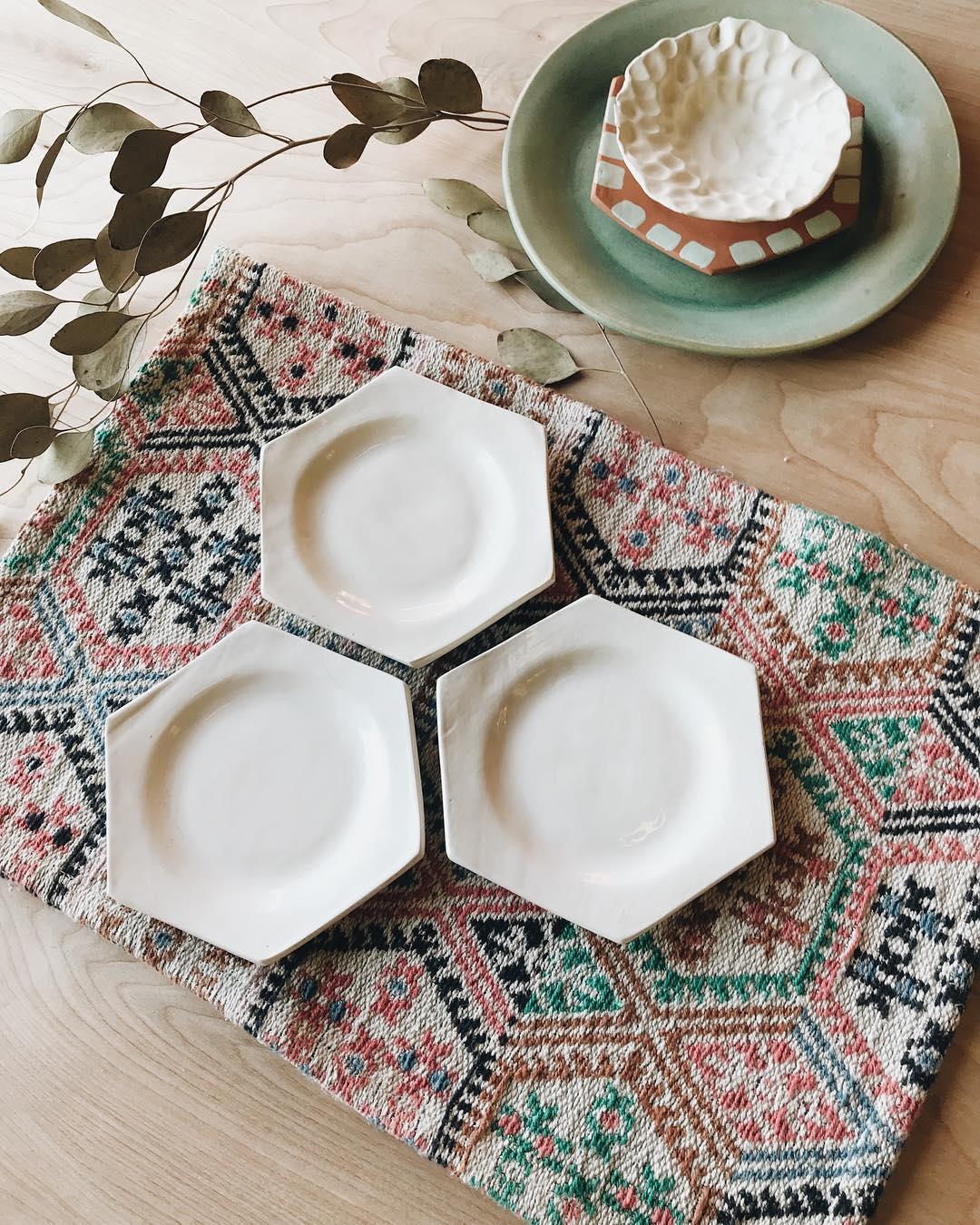hexagon tableware