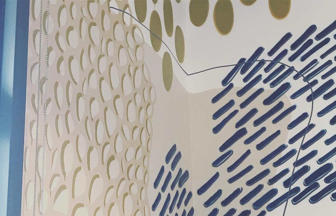 Murals by Tess Erlenborn seen at Studio Bank, Nashville - Studio Bank Mural