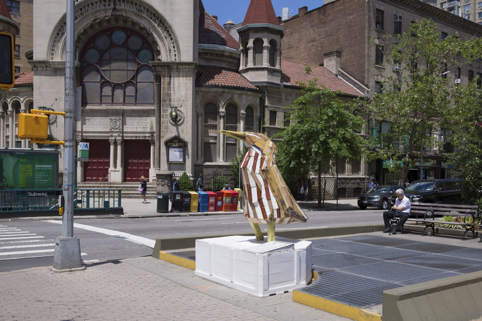 Public Sculptures by Nicolas Holiber seen at Broadway & W. 79th St. New York, New York - American Bittern