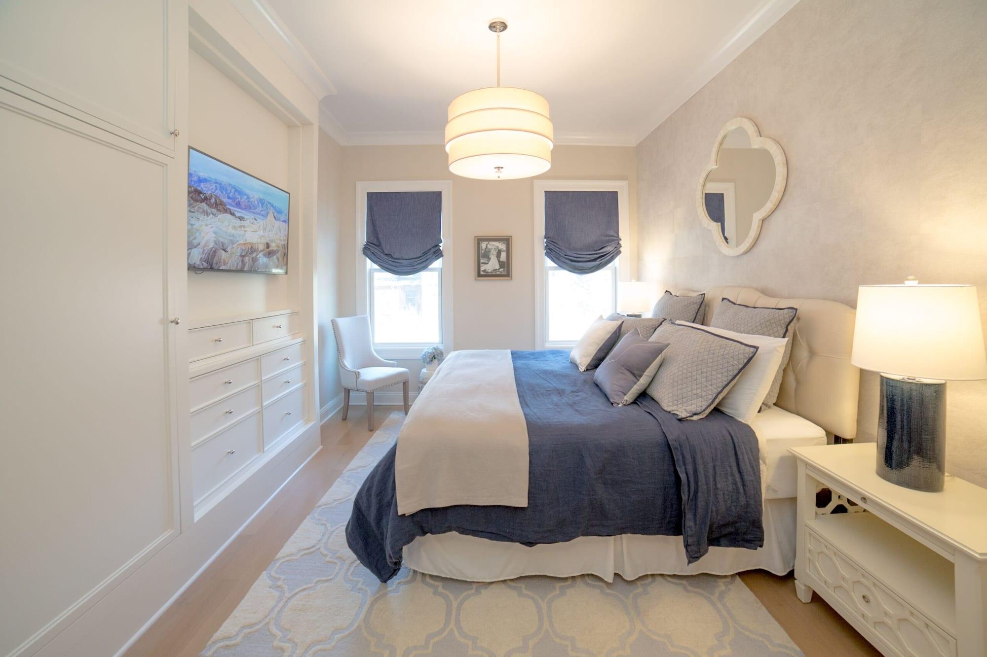 Pillows by Marie Burgos Design seen at Garden Street Brownstone, Hoboken - Yin & Yang Pillow