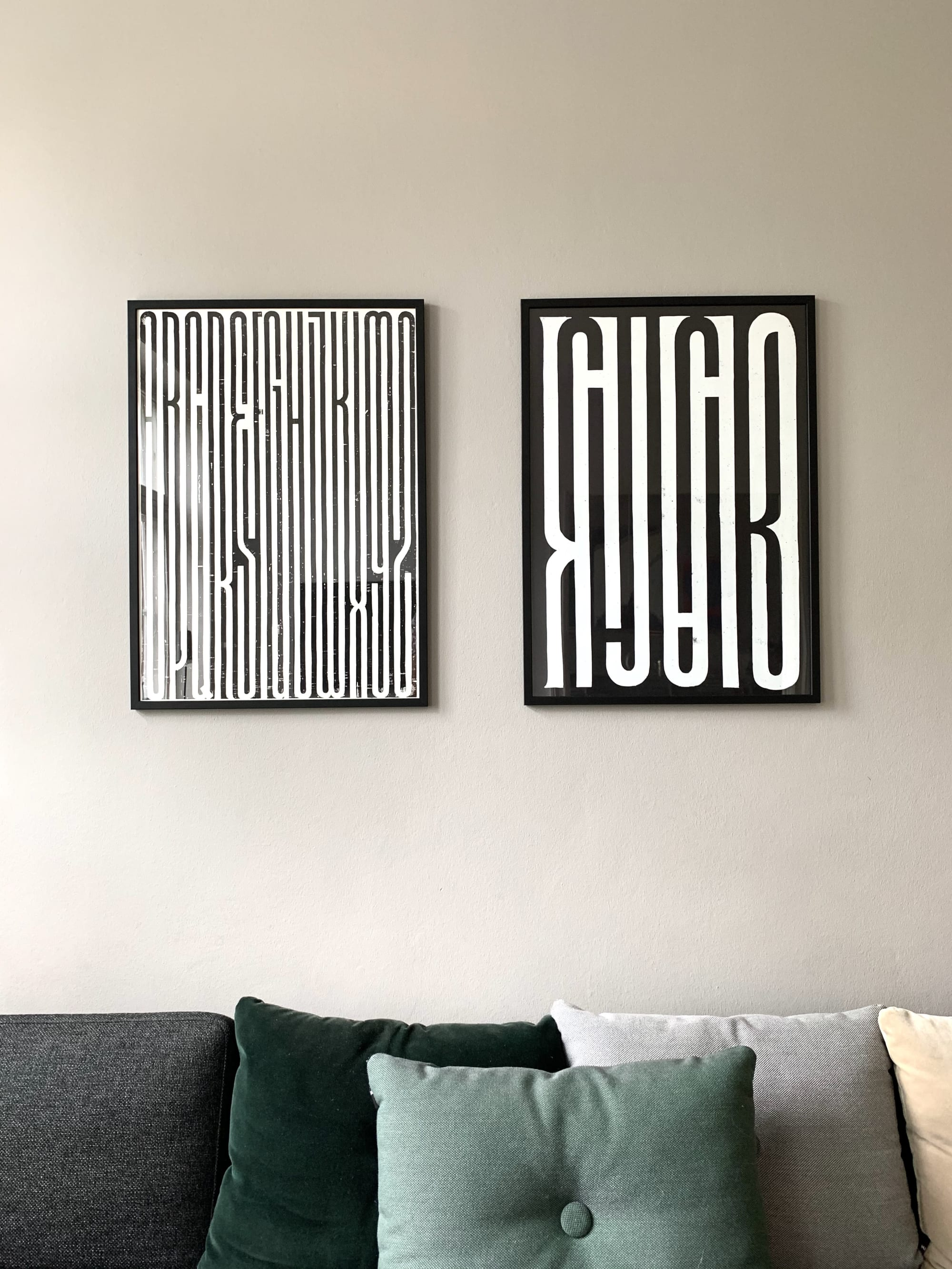 Bold Black and White Typography Wall Decor