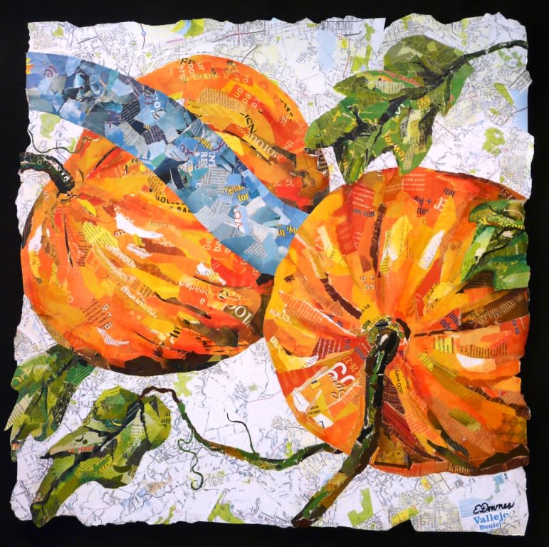 Paintings by Eileen Downes seen at Kaiser Permanente Vallejo Medical Center, Vallejo - Our Farmers' Treasures