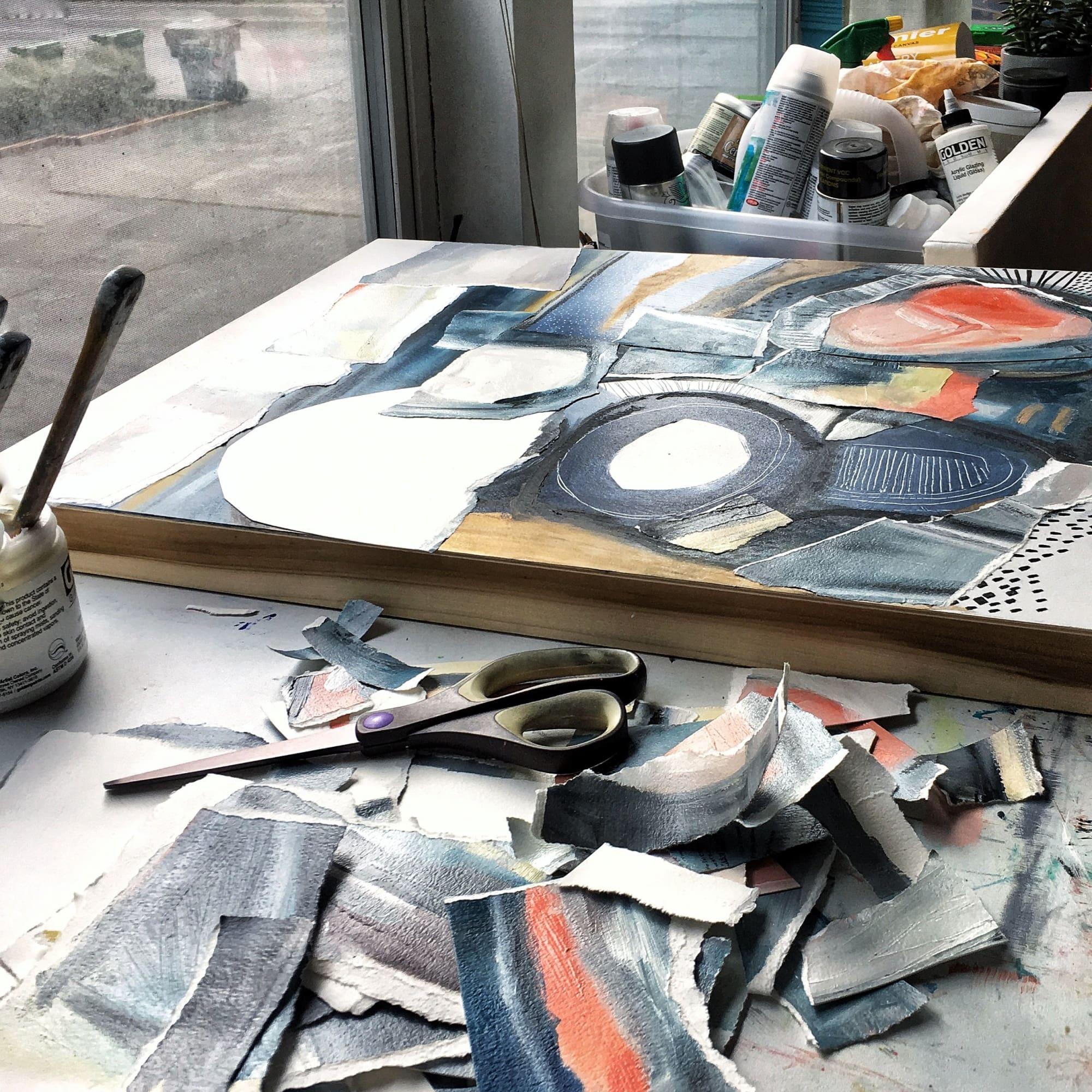 Paintings by Melanie Biehle seen at Gray Sky Gallery, Seattle - Deconstructed