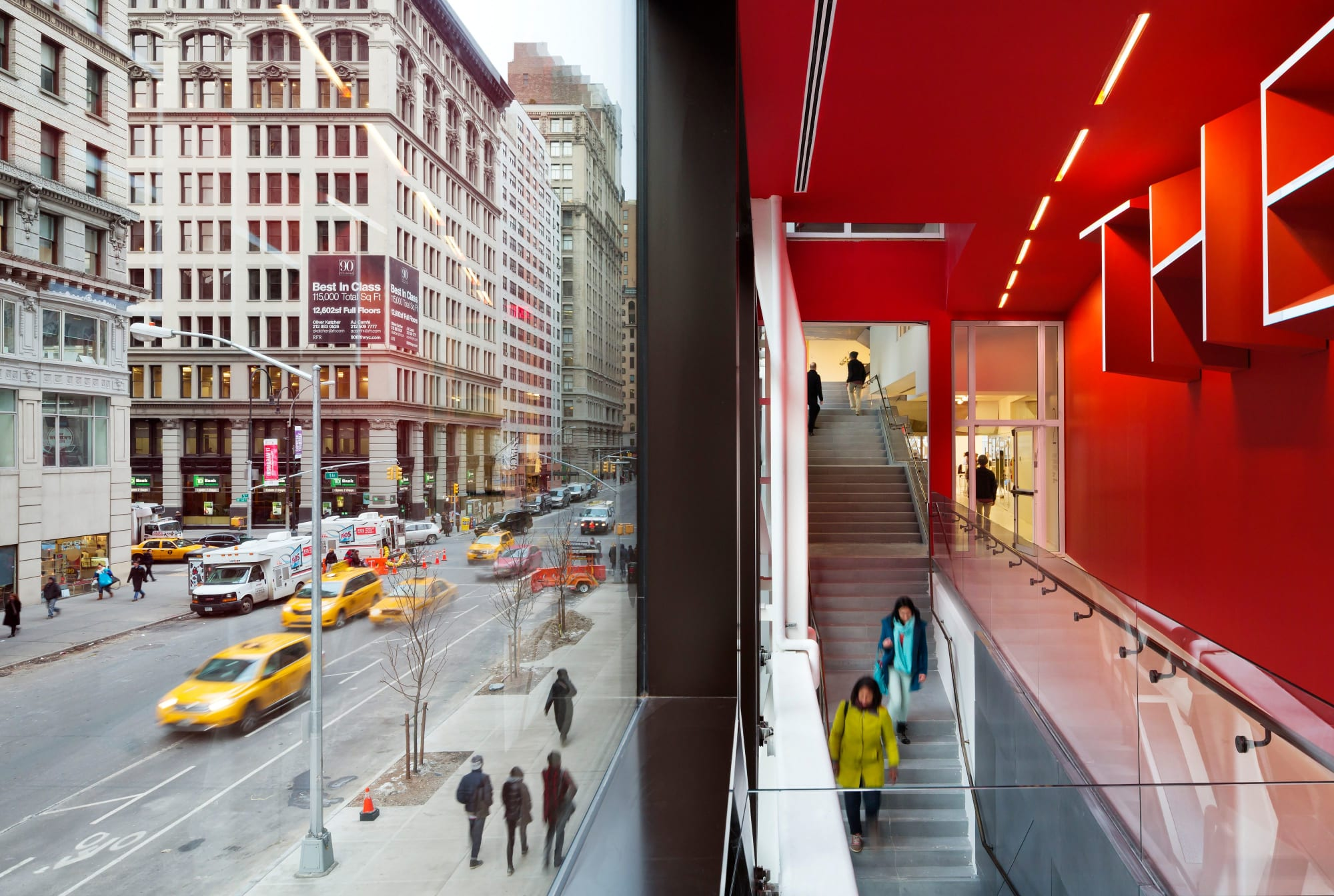 Architecture by Skidmore, Owings & Merrill seen at New York, New York - University Center - The New School
