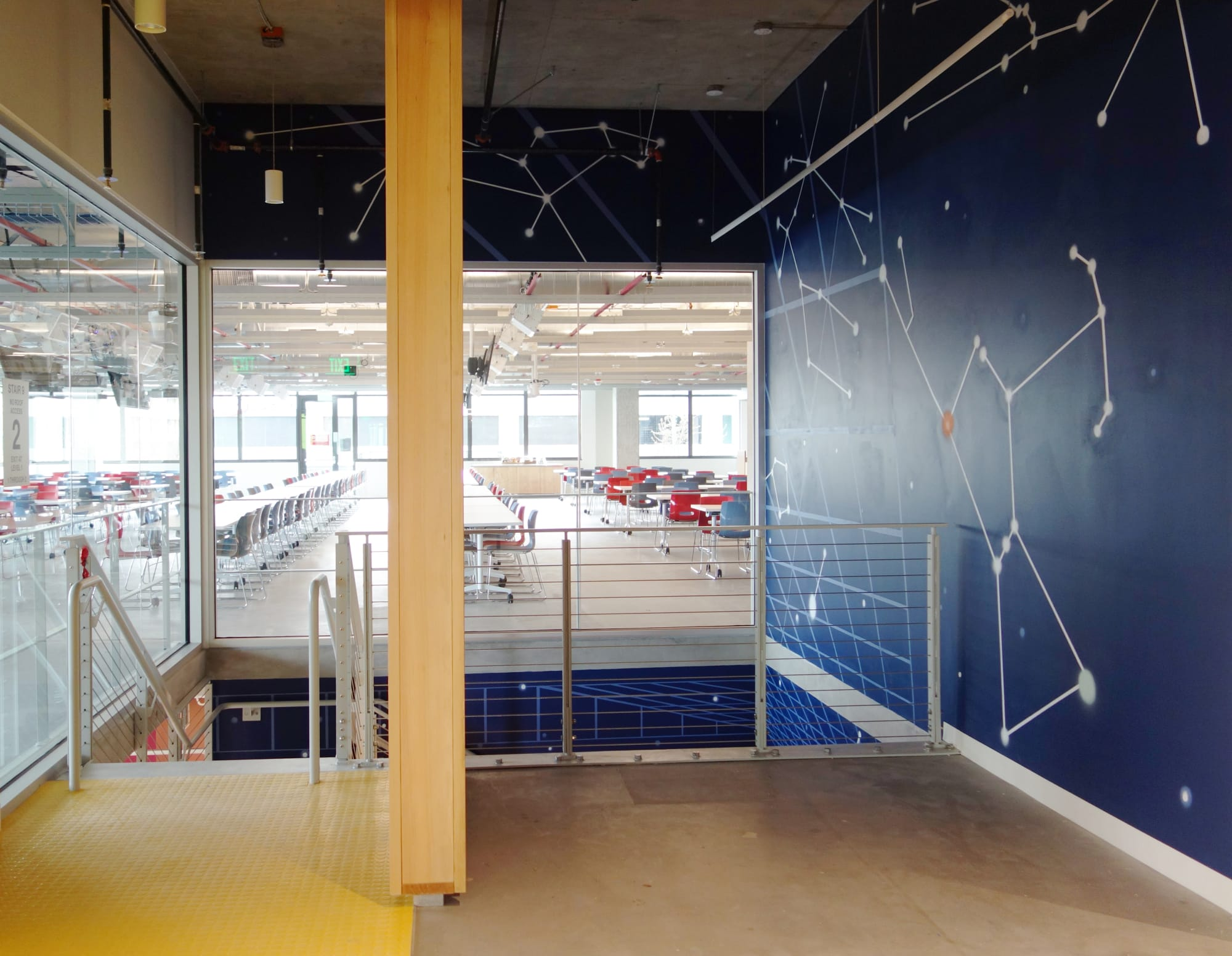 Murals by Mary Iverson at Facebook, Seattle - Facebook AIR Mural