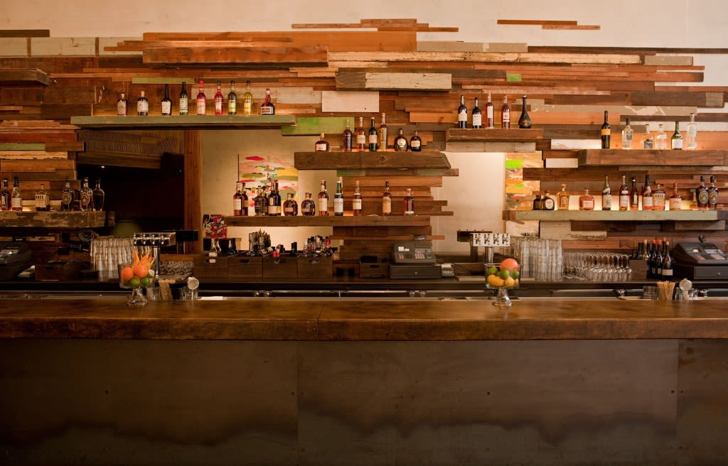 Furniture by Concreteworks seen at Era Art Bar & Lounge, Oakland - Bartop