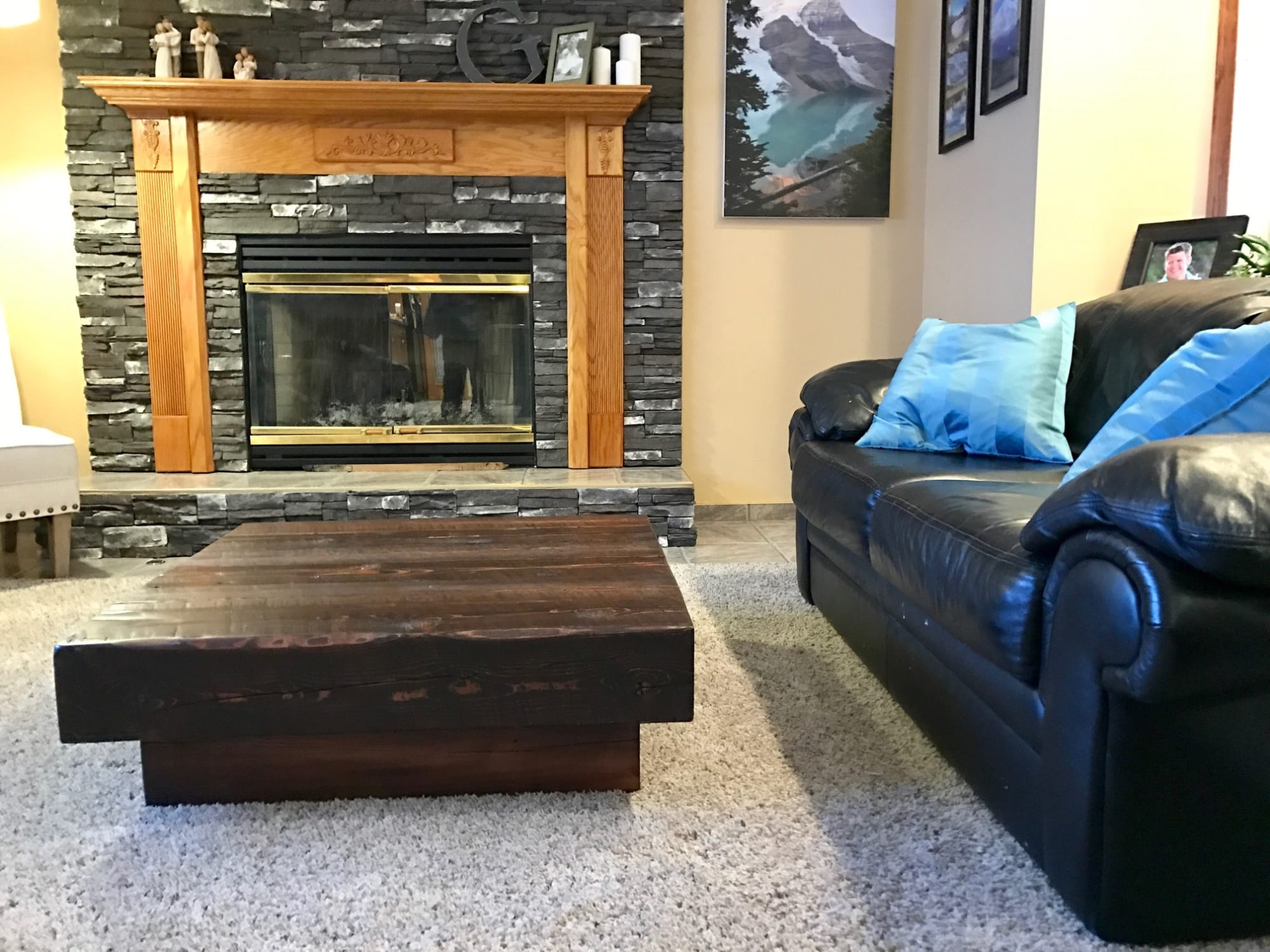 Tables by Cask Woodworking seen at Private Residence, Sherwood Park, Canada, Sherwood Park - Douglas Fir Timber Coffee Table