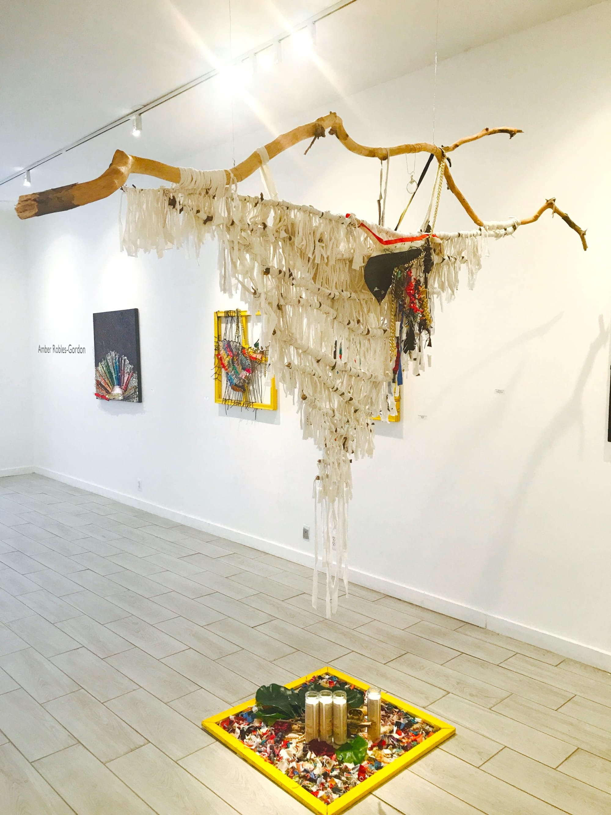 Wall Hangings by Amber Robles-Gordon seen at Honfleur Gallery, Washington - Let Me Tell You About the Baes and the Bees Series,