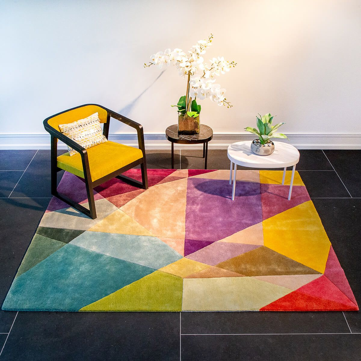 Vibrant Prism Rug in Multi Color