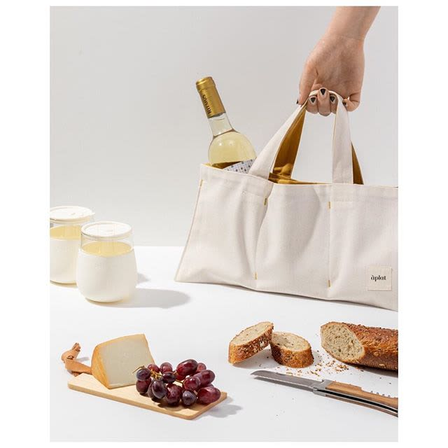 Apparel & Accessories by Aplat seen at Bay Area Made x Wescover 2019 Design Showcase, Alameda - Wine Picnic Tote