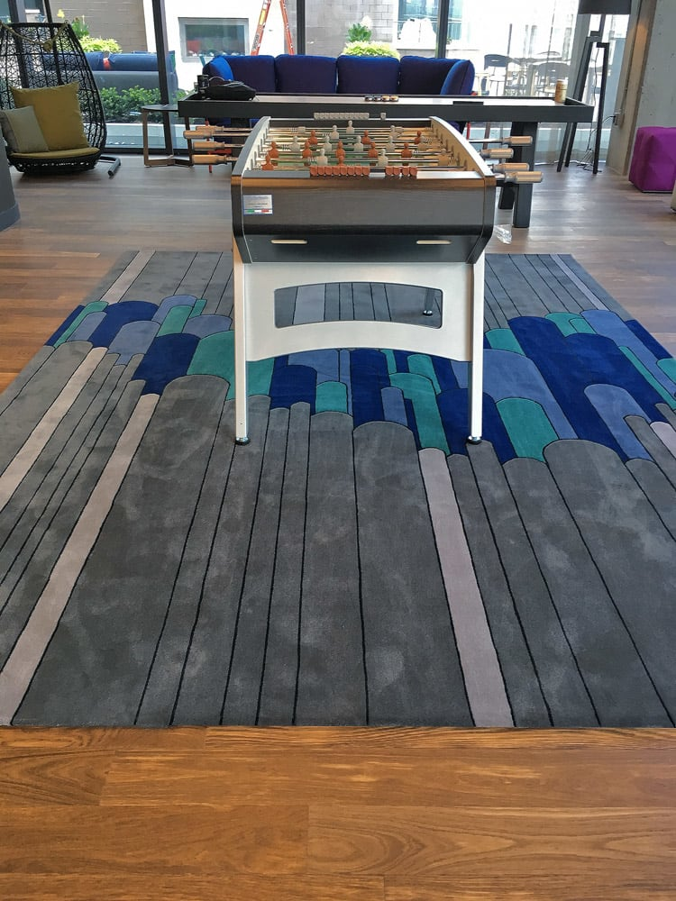 Rugs by Lucy Tupu Studiorcedes524 seen at New York, New York - RiverHouse 11-Game Room