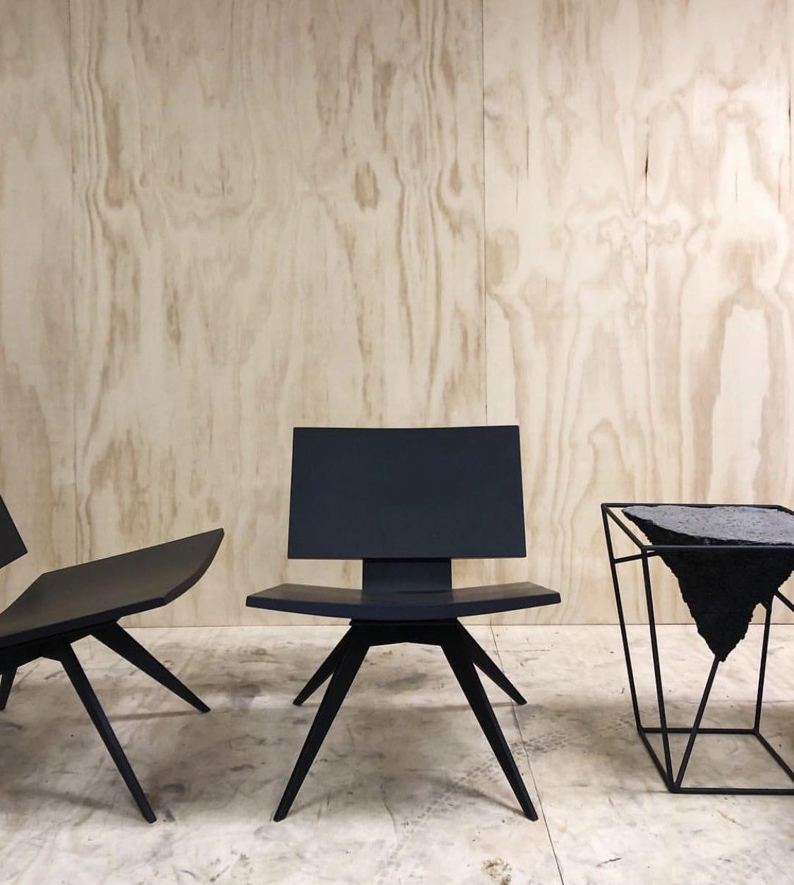 Chairs by Concrete Pig seen at Veronique Wantz Gallery, Minneapolis - D'Abri | Lounge