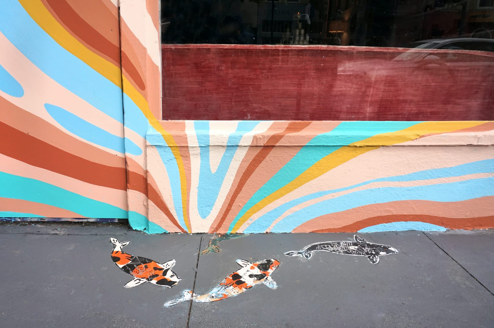 Murals by Celeste Byers seen at Often Wander, San Francisco - Storefront Mural
