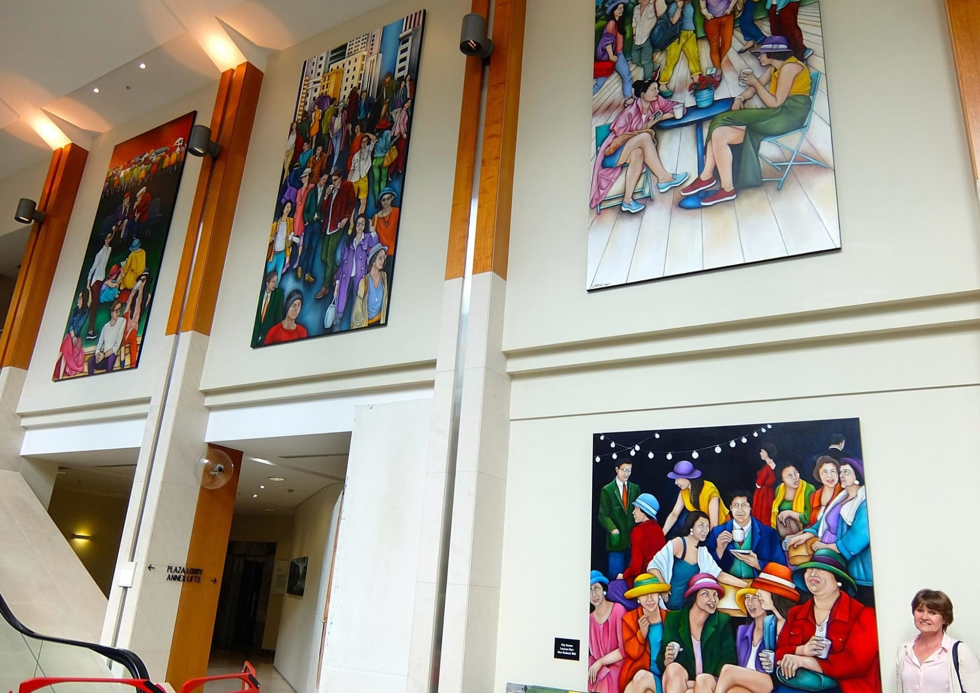 Paintings by Lauryne Hart seen at Shortland Street, Auckland - City LIfe Series