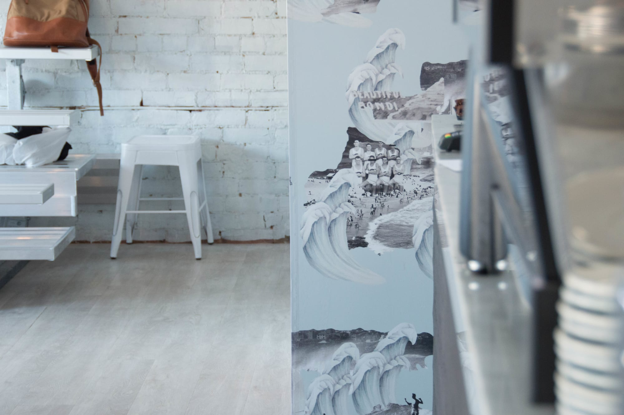 Wallpaper by Candice Kaye Design at Baddies, Toronto - Custom Wallpaper