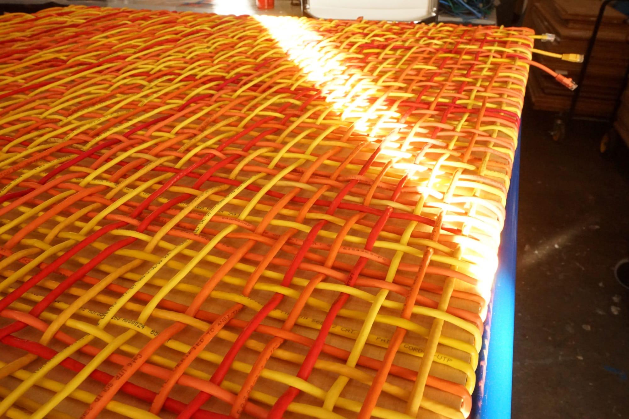 Wall Treatments by ANTLRE - Hannah Sitzer seen at Argo AI, Palo Alto - Ethernet Weavings