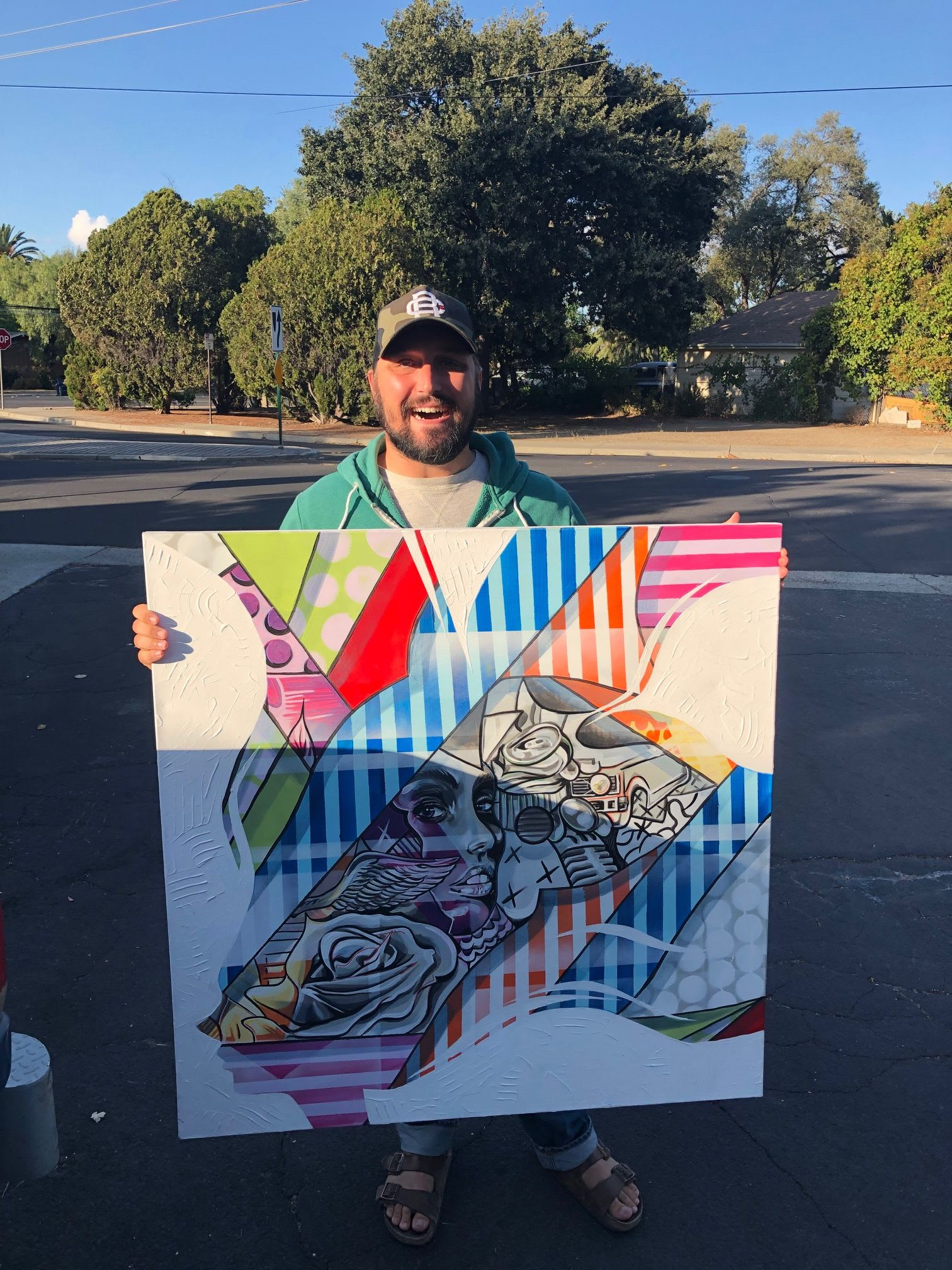 Paintings by Trent Thompson seen at Livermore, Livermore - Outbreak Event Poster Art