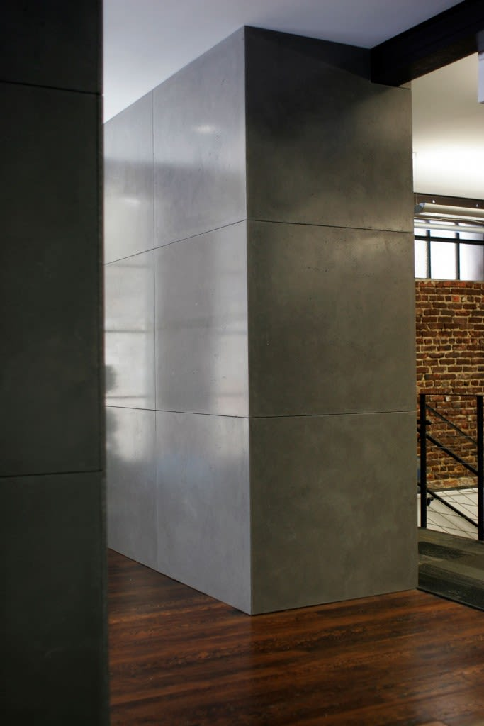 Wall Treatments by Concreteworks seen at Weebly, Inc, San Francisco - Wall Panels