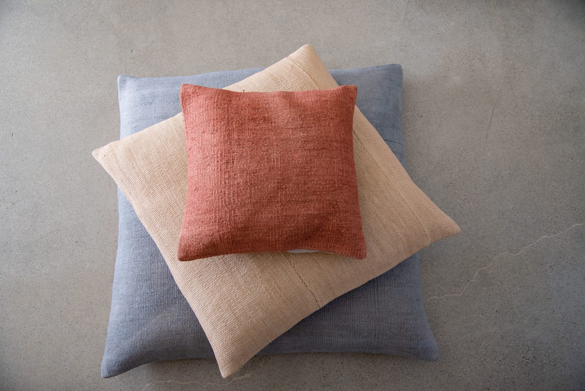 Multicolor hemp oversized floor cushions